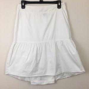 Anthropologie fei White Cotton Drop Waist Skirt 4